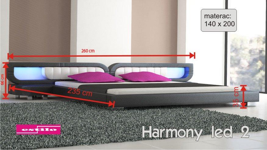 łóżko Do Sypialni Harmony Led 2 Penta