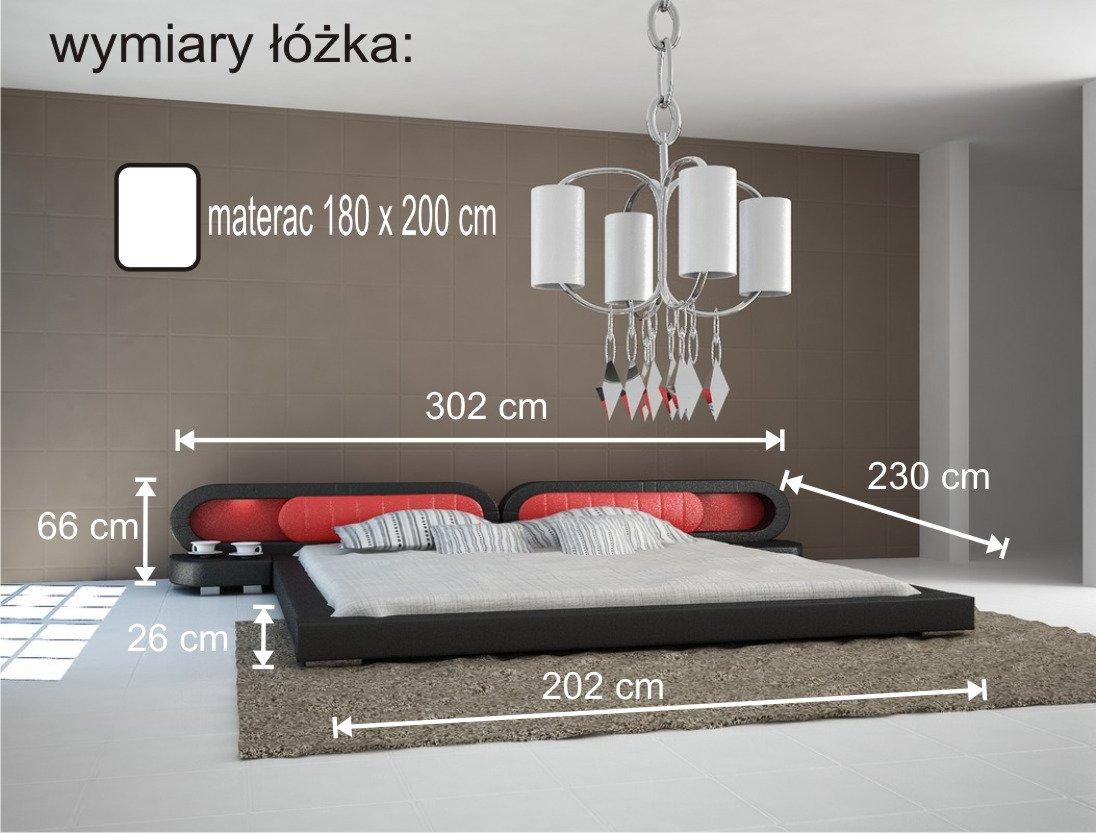 łóżko Do Sypialni Harmony 2xled 180x200